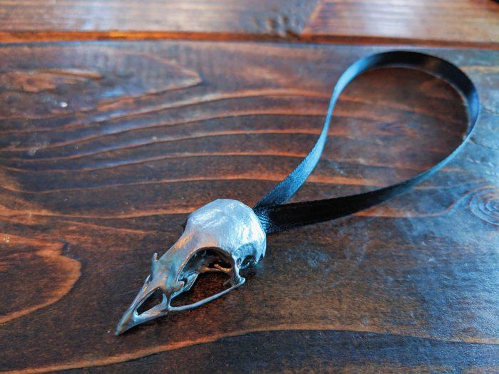 Dermestidarium Quail Skull Ornament